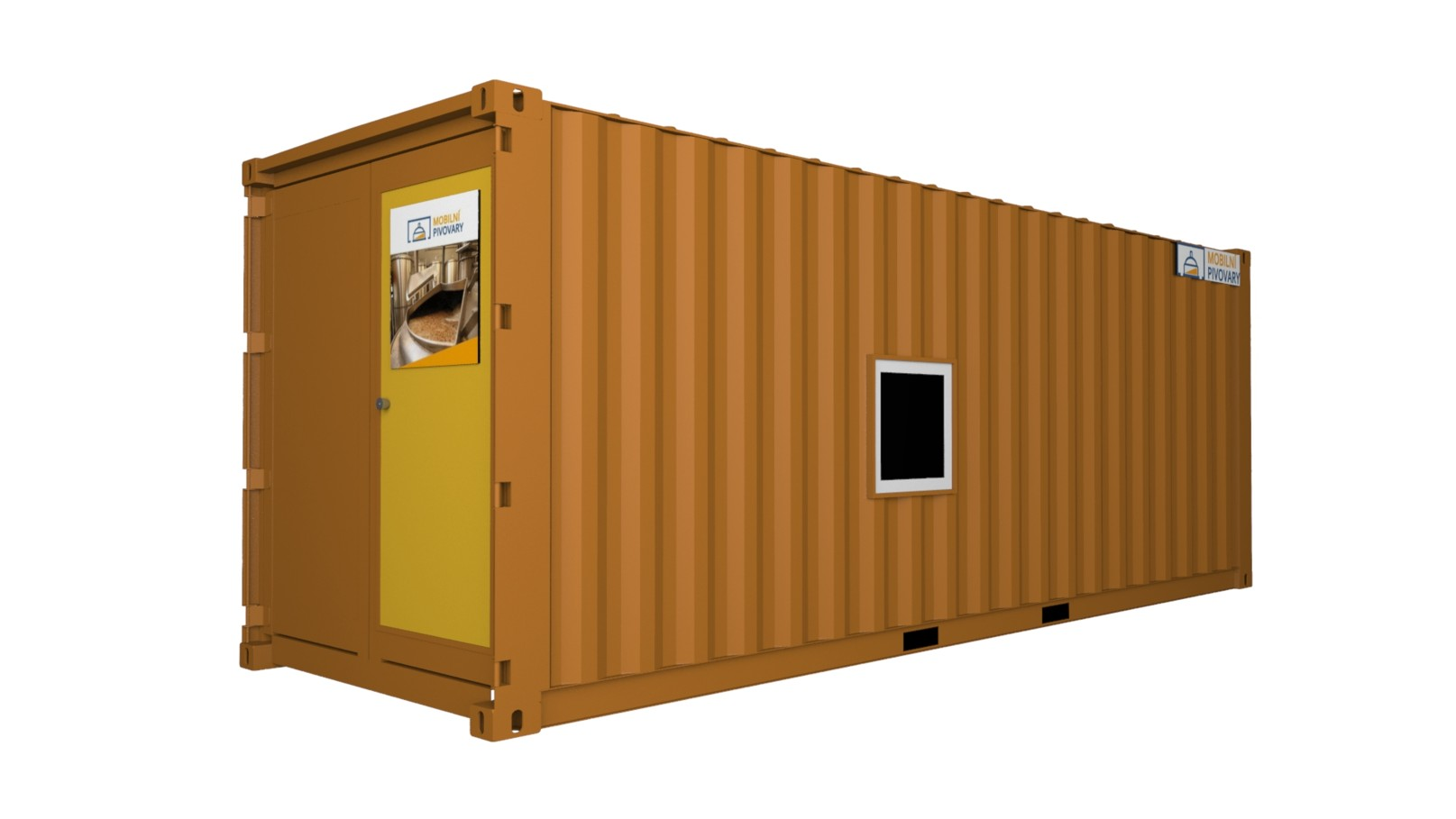 One-container microbrewery MOBBEER - exterior 1