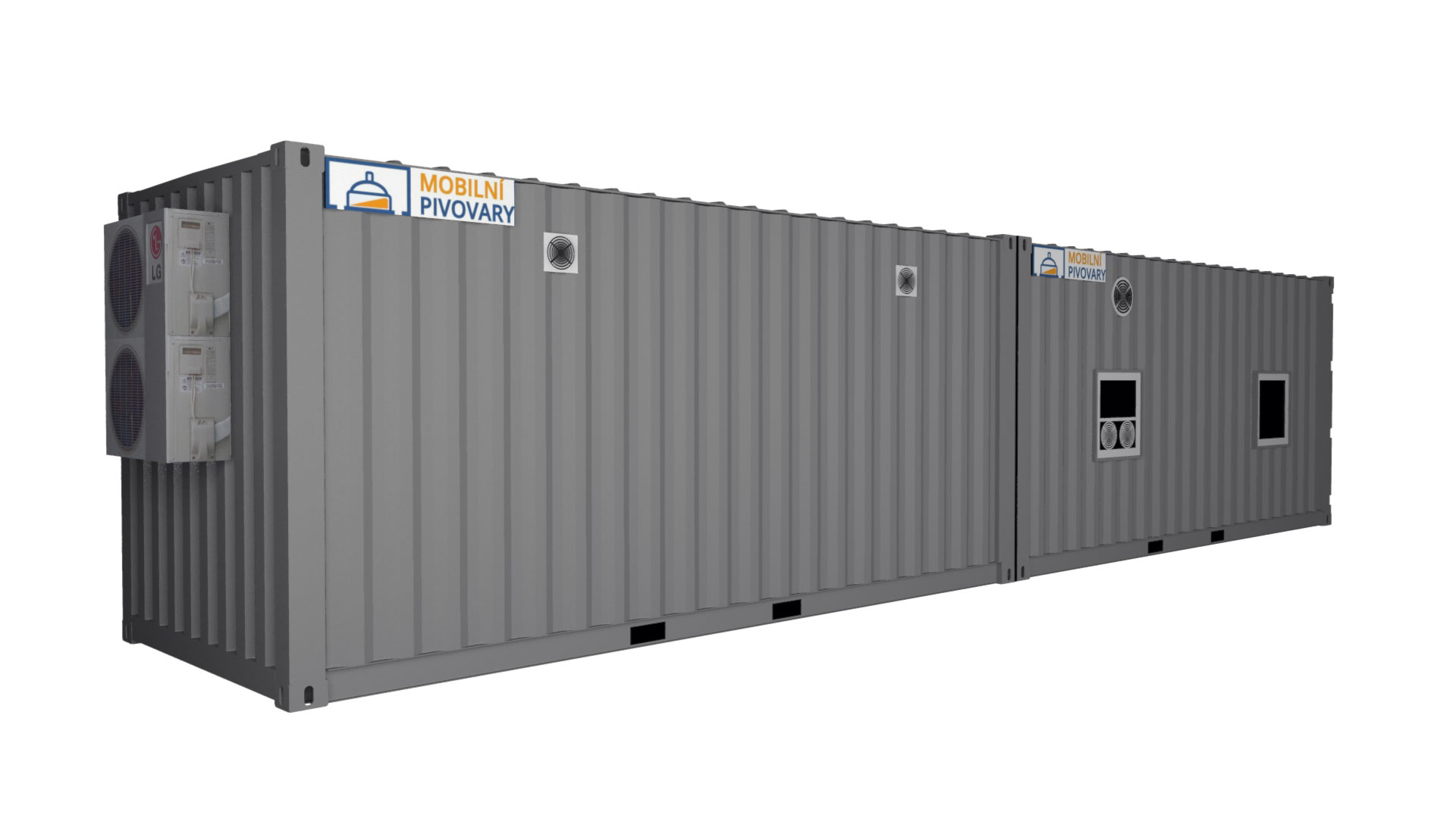 Two-containers microbrewery MOBBEER - exterior 1
