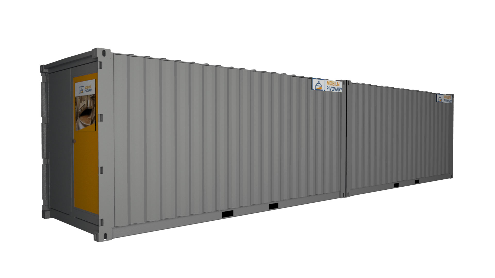 Two-containers microbrewery MOBBEER - exterior  2