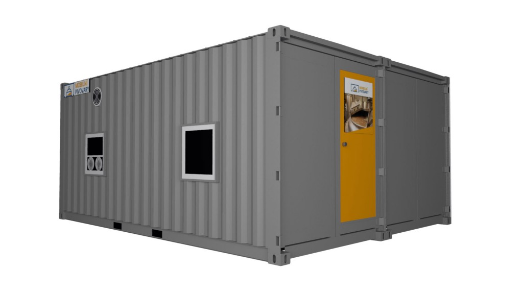 Two-containers microbrewery MOBBEER - exterior 3