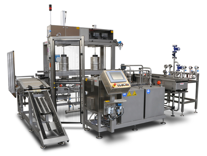 Powerfull beer washing and filling machine line