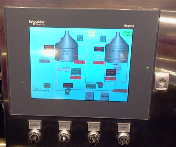 Control panel CC for micro brewery Breworx