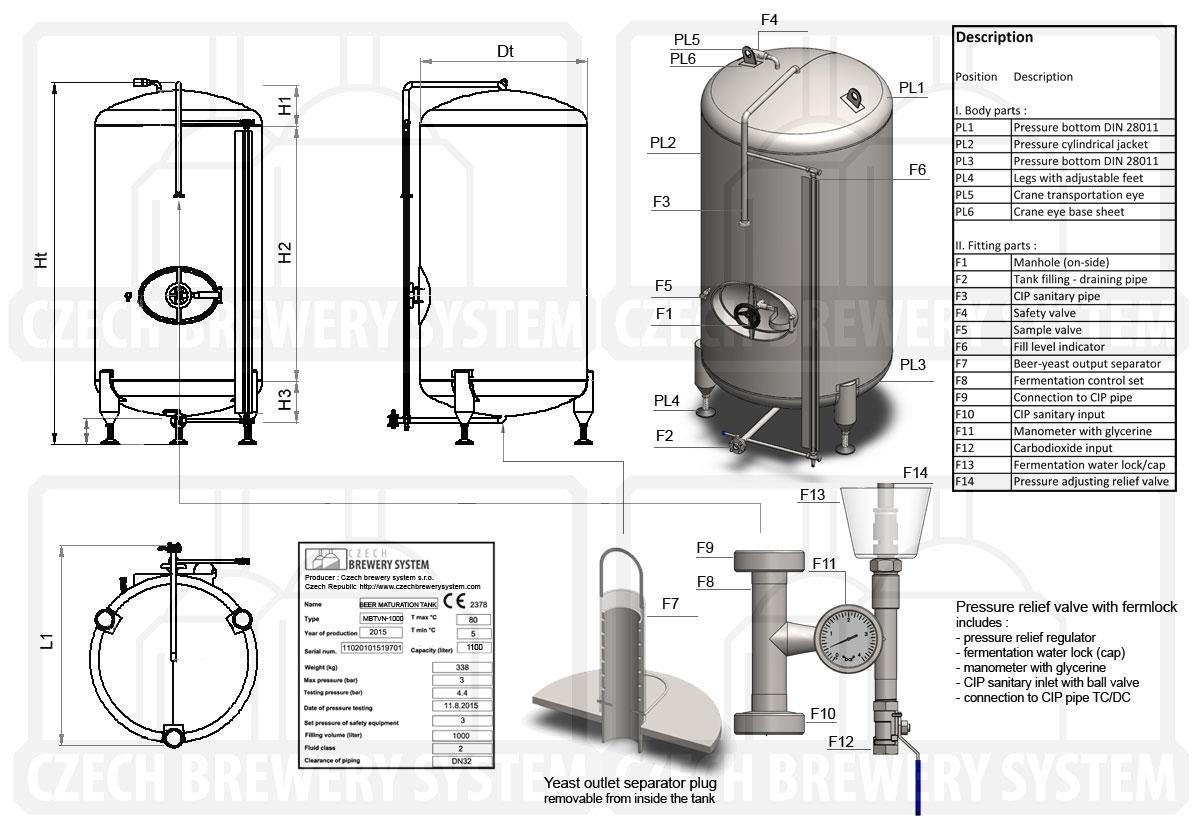 Mat Maturation Beer Tanks Lager Tanks Beer Pressure