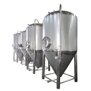 Cylindrical-conical beer fermentation-maturation tanks