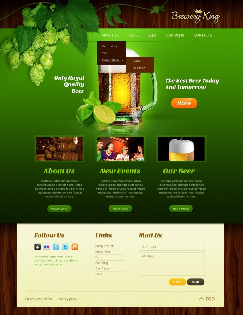 production of websites for microbreweries