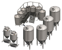 Industrial microbreweries