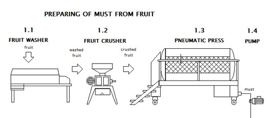 Preparing of must for cider from fruit
