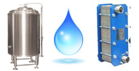 Cold water tanks for treated water