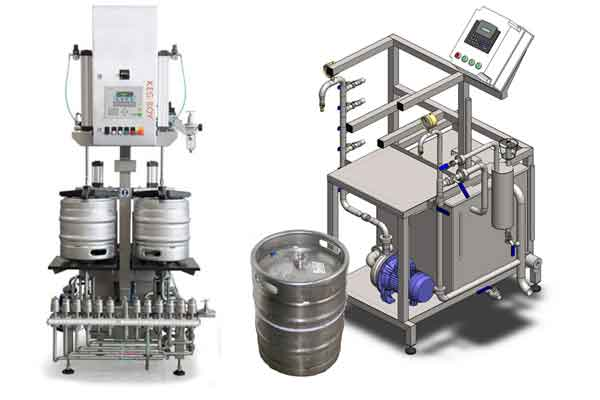 Equipment to filling beer into kegs