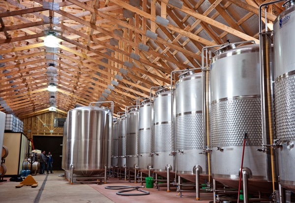 Fermenation tanks for the cider production