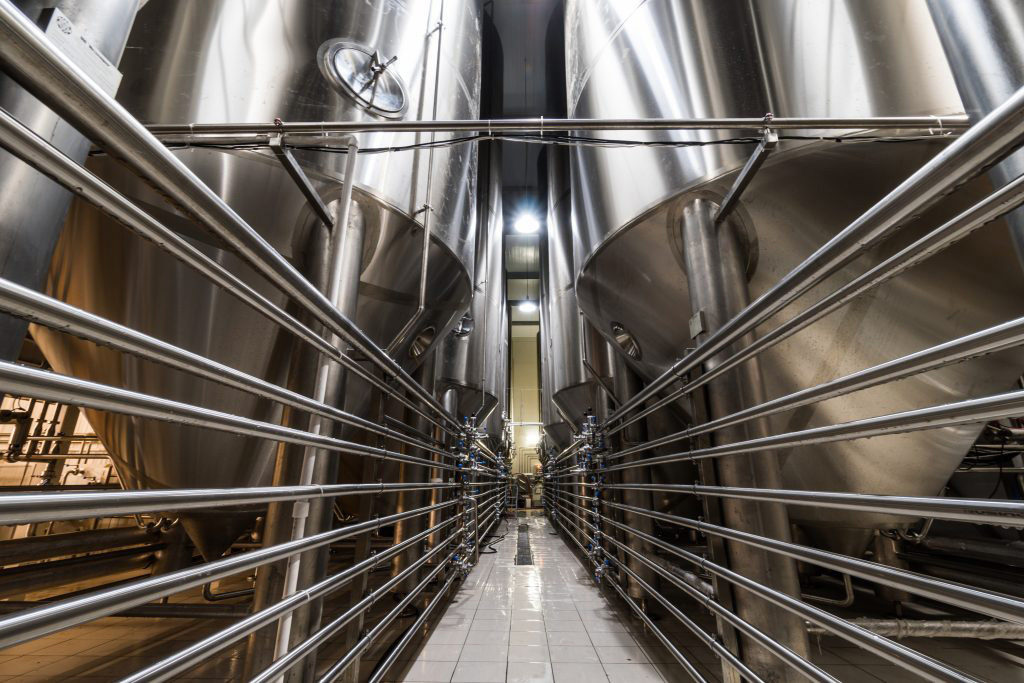 Breworx Oppidum brewery - beer cylindrical-conical fermentation tanks