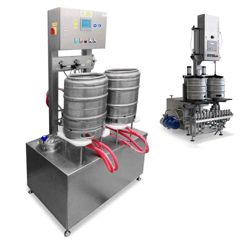 Equipment to filling beer into stainless steel kegs