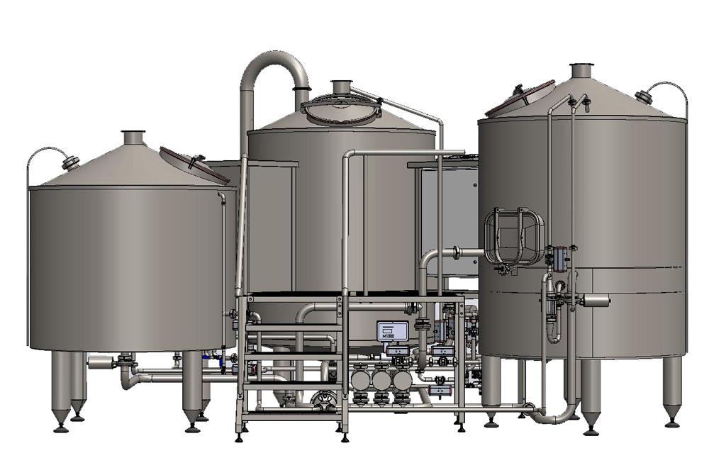 Makinë Tritank wort brew