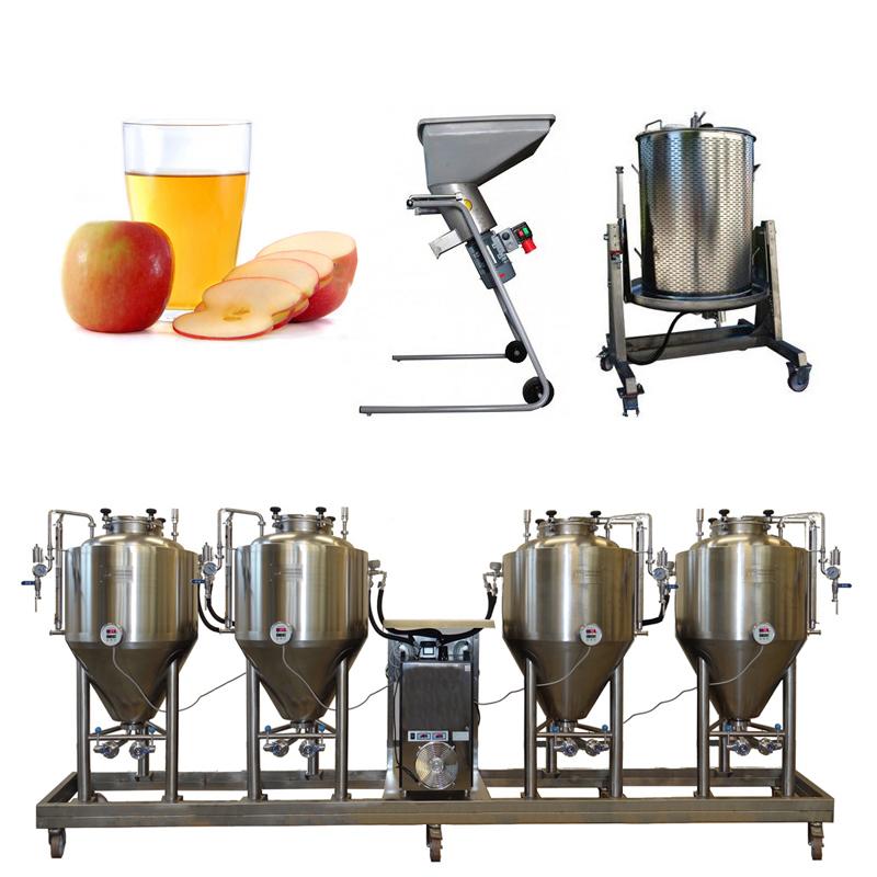 Modulo Cider Line FUIC4x250CCT - Zgjidhja 6th: Sistemi i prodhimit të birrës dhe mushtit të gjitha-në-një