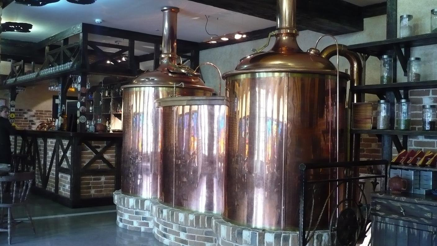 Microbrewery brewhouse Breworx Classic - copper design