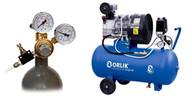 Equipment for preparation and filtration pressurized air