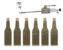 beer carbonation oxygenation - Components and equipment for production of beer and cider