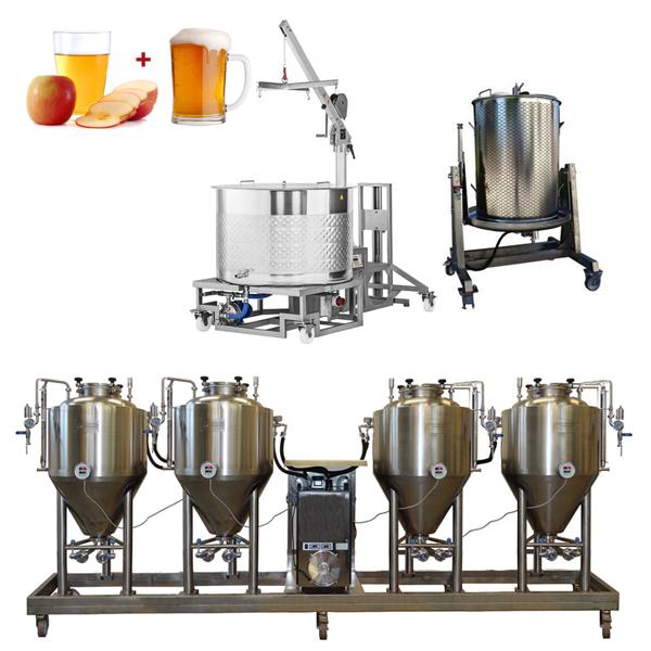 BeerCiderLine Modulo 250 - Zgjidhja 6th: Sistemi i prodhimit të birrës dhe mushtit gjithçka-në-një