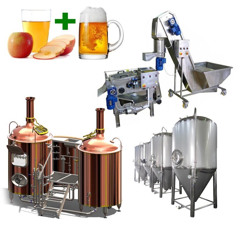 BeerCiderLine Profi 500 - Zgjidhja 6th: Sistemi i prodhimit të birrës dhe mushtit gjithçka-në-një
