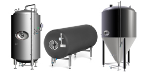 beer tanks 300x150 - Components and equipment for production of beer and cider