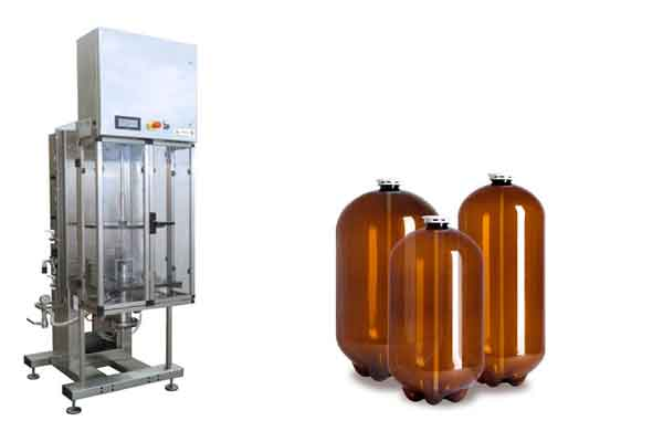 Equipment too filling beer into petainers