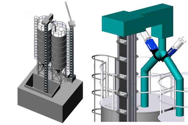 Malt geymsla silos