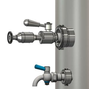 Zařízení pro karbonizaci nápojů pod tlakem.