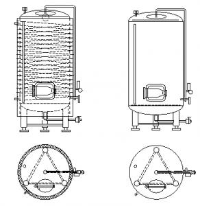 zrání pivní nádrž vertikální 01 - technologie pro proces kvašení a zrání