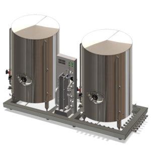 Kompaktní jednotka chlazení mladiny pro pivovary Breworx Modulo
