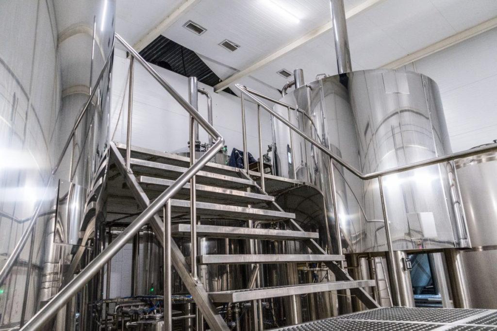 Breworx Oppidum industrial brewery - stairs and platform