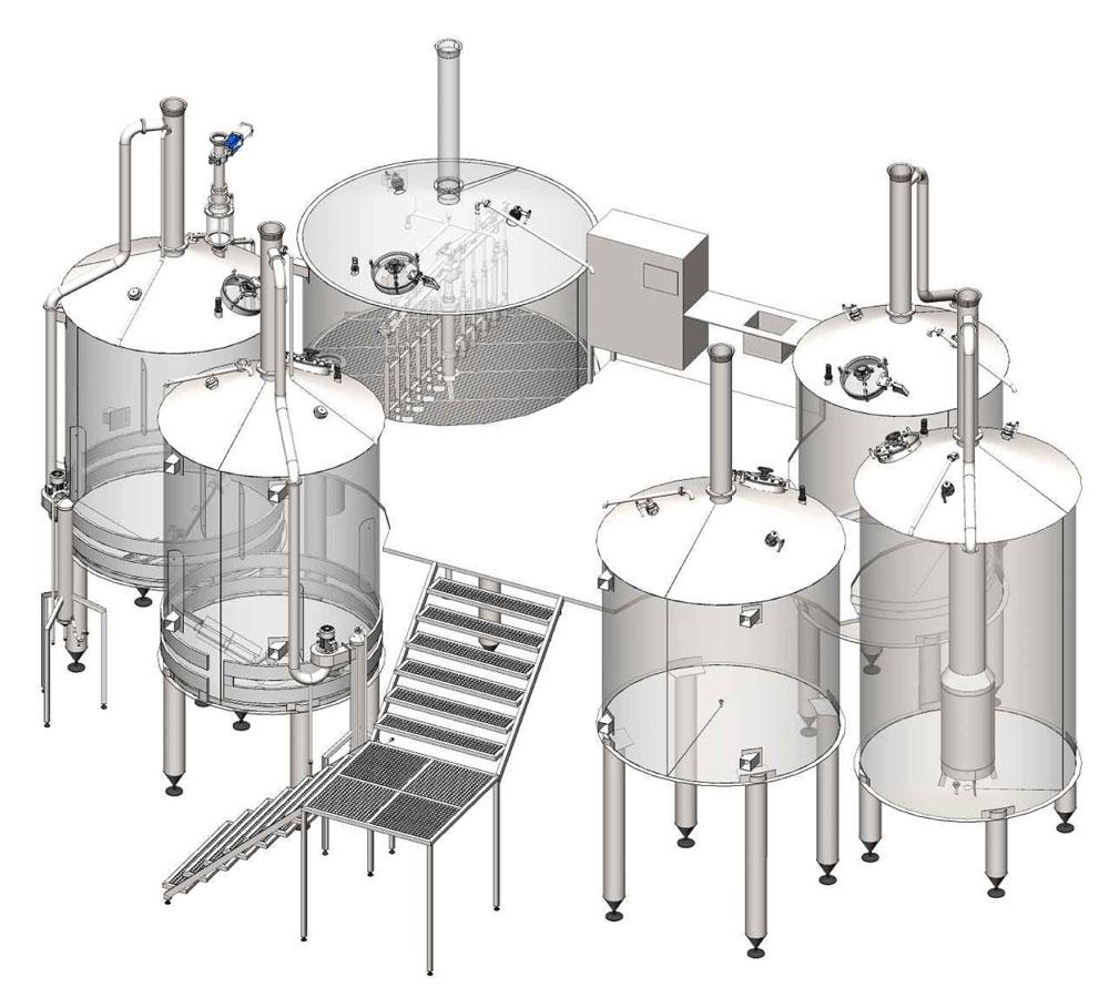 Breworx Oppidum industrial brewery system - 6000 liters version