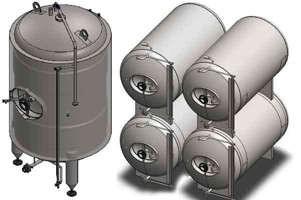 Nádrže pro konečnou úpravu piva / Světlé nádrže na pivo / Pivní skladovací nádrže