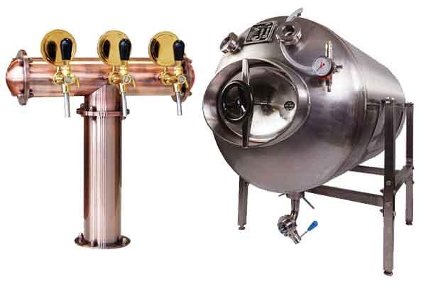 Vybavení pro skladování nápojů přímo v restauracích a hospůdkách, zařízení pro izobarické dávkování nápojů, zařízení pro podávání piva a jiných karbonizovaných nápojů.