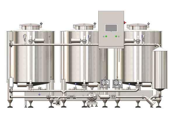 Čisticí a dezinfekční systém obsahuje zařízení pro dokonalé čištění a dezinfekci všech nádob a potrubí v pivovaru.