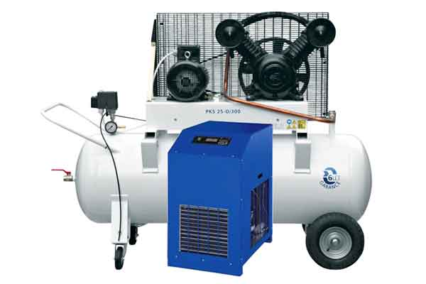 Air compressors and accessories for the preparation, cleaning, transport and use of pressure air.