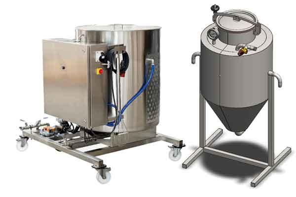 Zařízení určená k bezpečnému skladování, sběru, dávkování, pěstování a šíření pivovarských kvasnic.