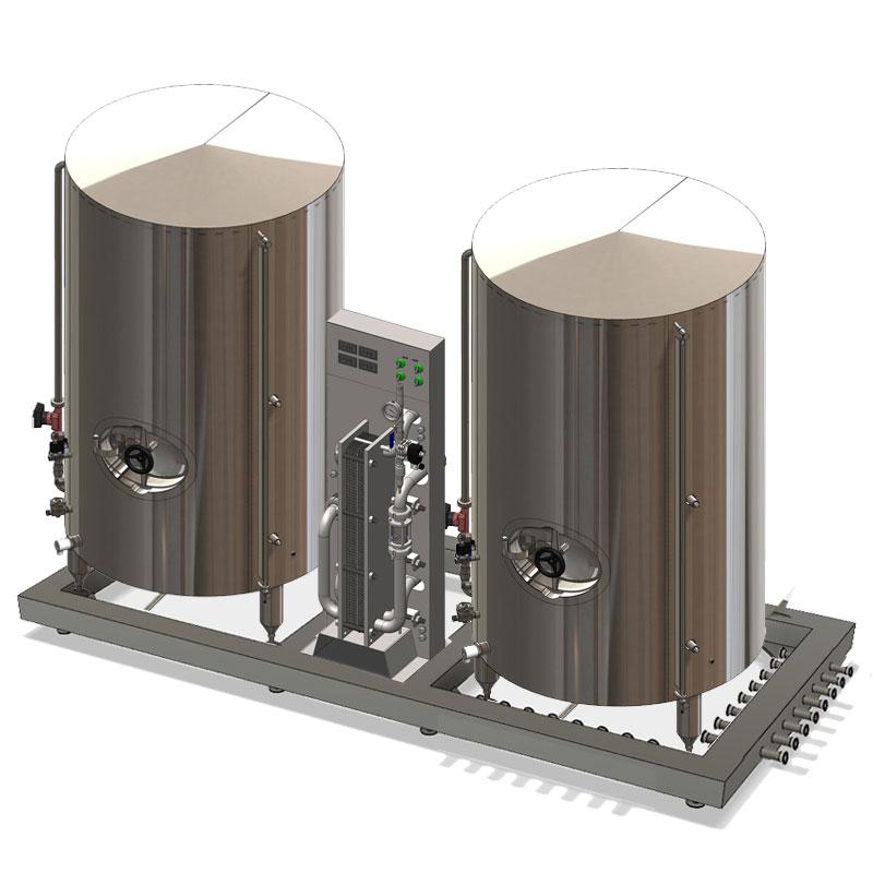 Kompaktní chladicí jednotky s nástřikem studené vody a nádrží na teplou vodu