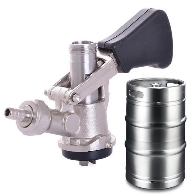 Dispense heads for kegs