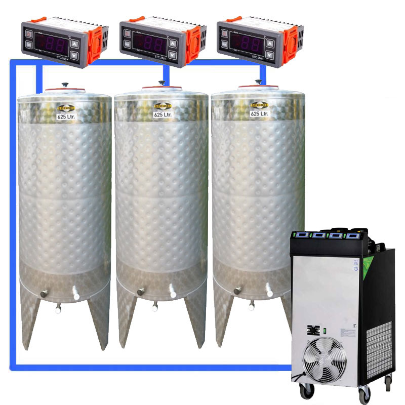 Compact fermentation systems with non-pressure tanks 0.0 bar
