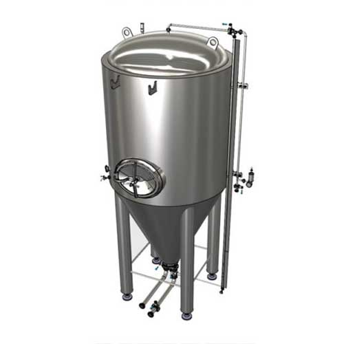 Modulární válcová kuželová pivní fermentační nádrž