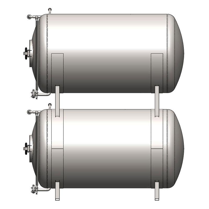 BBTHN - Cylindrické pivní kondicionační a skladovací nádrže: horizontální, neizolované, chlazené vzduchem