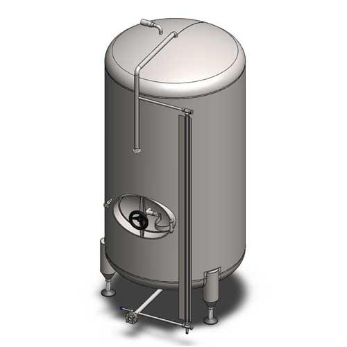 BBTVN - Cylindrické pivní kondicionační a skladovací nádrže: vertikální orientace, neizolované, chlazené vzduchem