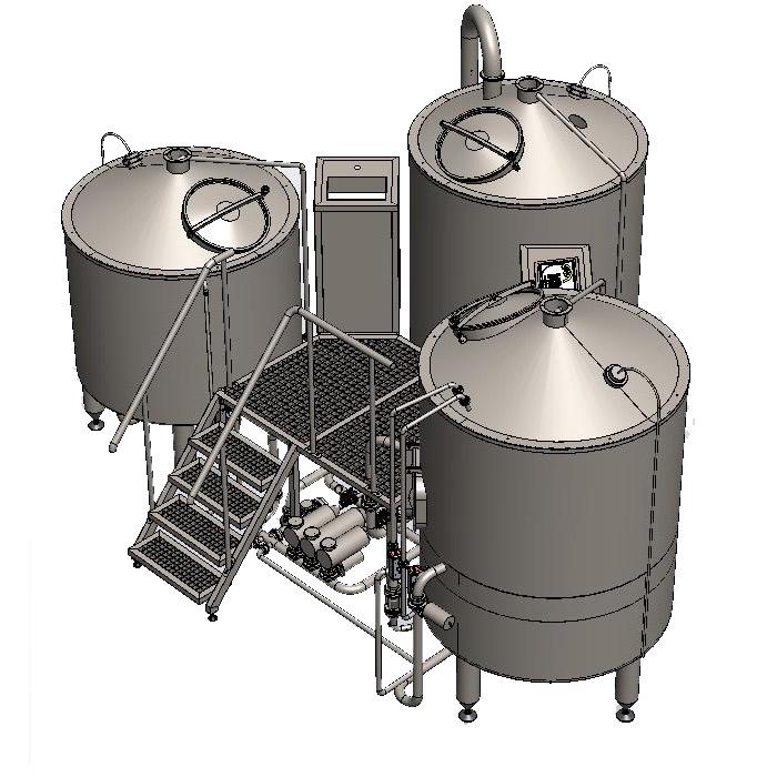 BH-BWTT-1000 Wort boiling machine BREWORX TRITANK 1000